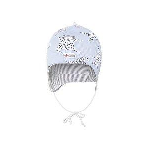LITTLE ANGEL Čepice podšitá zavazovací Outlast® - šedá-usínáček/pruh bílošedý melír vel. 1 | 36-38 cm