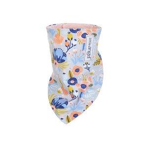 LITTLE ANGEL Šátek na krk podšitý BIO Outlast® - sv.šedá kvítí/sv.pudrová vel. uni