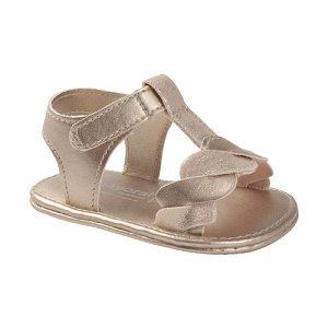 MAYORAL dívčí sandále, béžové lesklé - vel. 19