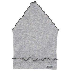 ESITO Dívčí šátek jednobarevný - melír šedý Vel. 38