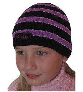 Dívčí čepice úpletová, vel. 104, Fialová