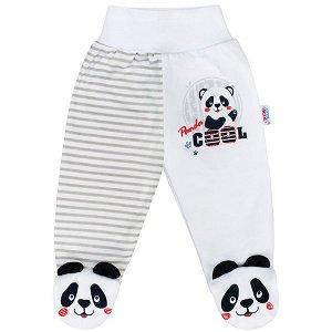 Kojenecké polodupačky New Baby Panda, vel. 74 (6-9m), šedá