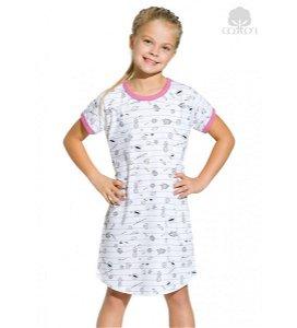 Dívčí noční košile Taro Peppa (HO2206a), vel. 104, růžovo-šedá