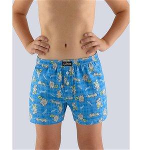 GINA dětské trenky volné chlapecké, šité, s potiskem  25011P  - dunaj žlutá 128/134, vel. 128/134, dunaj žlutá
