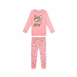 Dívčí dorostové pyžamo Kugo (MP1514), vel. 146, sv. růžová