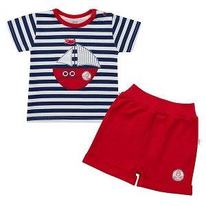 Kojenecká souprava tričko a kraťásky New Baby Marine, vel. 74 (6-9m), Modrá