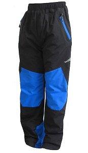 Dětské zateplené kalhoty Wolf dorost (B2173), vel. 134, černo-modrá