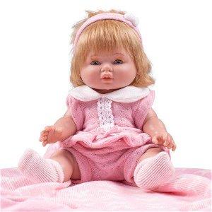 Luxusní dětská panenka-miminko Berbesa Amanda 43cm, Růžová