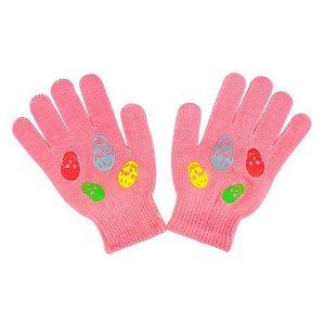 Dětské zimní rukavičky New Baby Girl růžové, vel. 122 (6-7 let), Růžová