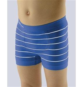 GINA dětské boxerky s kratší nohavičkou chlapecké, kratší nohavička, bezešvé Bamboo Cotton 25997P  - atlantic bílá L, vel. L, atlantic bílá