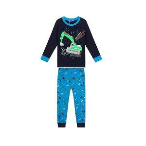 Chlapecké pyžamo Kugo (MP1551), vel. 98, tm. modrá