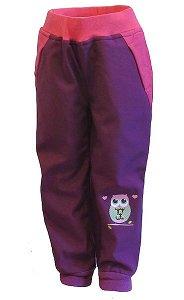Dívčí softshellové kalhoty Wolf zateplené (B2193), vel. 98, vínová