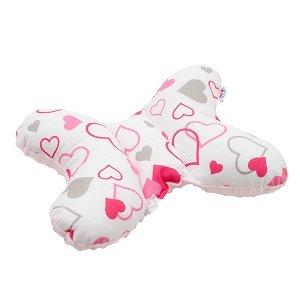Stabilizační polštářek New Baby růžová srdíčka, Růžová