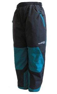 Dětské zateplené kalhoty Wolf (B2172), vel. 128, černo-zelená