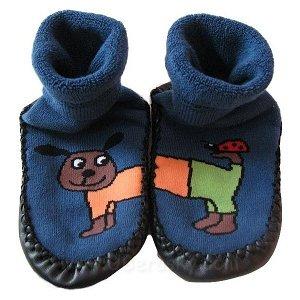Domácí ponožky s podrážkou (3139a), vel. 22-23, Modrá