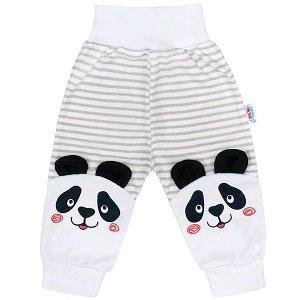 Kojenecké tepláčky New Baby Panda, vel. 74 (6-9m), šedá