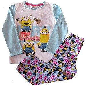 Dívčí pyžamo Mimoni (Ep2192), vel. 128, sv. modrá