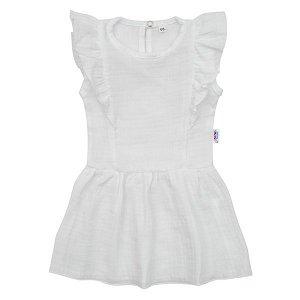 Kojenecké mušelínové šaty New Baby Summer Nature Collection růžové, vel. 62 (3-6m), Bílá