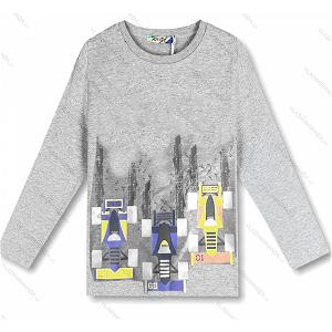 Chlapecké triko Kugo (M0210), vel. 128, šedá