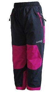 Dívčí zateplené kalhoty Wolf (B2172A), vel. 104, černo-růžová