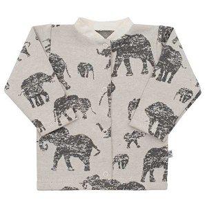 Kojenecký kabátek Baby Service Sloni modrý, vel. 74 (6-9m), šedá