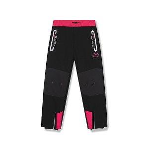 Dětské softshellové kalhoty Kugo zateplené (HK1665A), vel. 134, černo-růžová