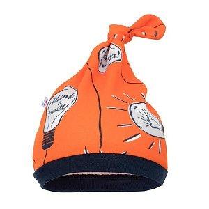 Kojenecká bavlněná čepička New Baby Happy Bulbs, vel. 86 (12-18m), oranžová