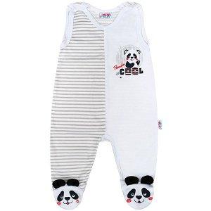 Kojenecké dupačky New Baby Panda, vel. 62 (3-6m), šedá