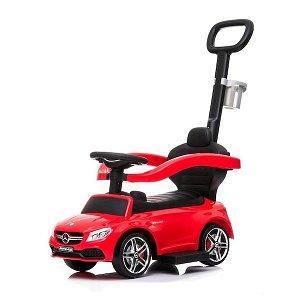 Odrážedlo s vodící tyčí Mercedes Benz AMG C63 Coupe Baby Mix červené, Červená