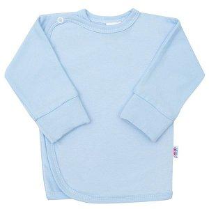 Kojenecká košilka s bočním zapínáním New Baby bílá, vel. 62 (3-6m), Modrá
