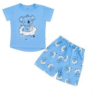 Dětské letní pyžamko New Baby Dream lososové, vel. 80 (9-12m), Modrá