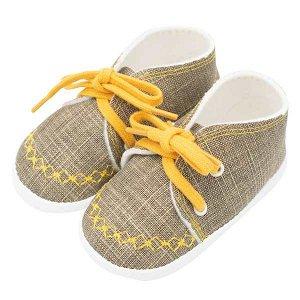 Kojenecké capáčky tenisky New Baby jeans mustard 3-6 m, vel. 3-6 m, Žlutá
