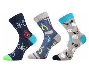 Ponožky Boma, 3 páry (Zoo54666), vel. 39-42, barevná