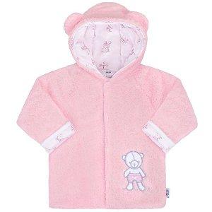 Zimní kabátek New Baby Nice Bear modrý, vel. 68 (4-6m), Růžová