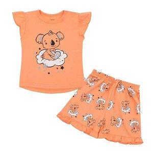 Dětské letní pyžamko New Baby Dream lososové, vel. 80 (9-12m), Dle obrázku