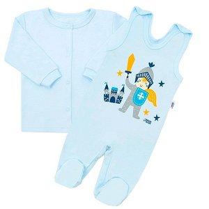 2-dílná kojenecká bavlněná soupravička New Baby Knight, vel. 68 (4-6m), Modrá
