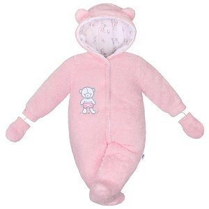 Zimní kombinézka New Baby Nice Bear růžová, vel. 56 (0-3m), Růžová