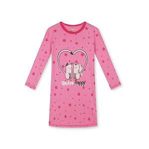 Dívčí noční košile Kugo (MN1323), vel. 116, tm. růžová