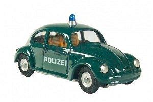 Auto VW brouk policie kov 11cm tmavě zelené v krabičce Kovap