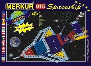 Merkur Toys Stavebnice MERKUR 015 Raketoplán 10 modelů 195ks v krabici 26x18x5cm