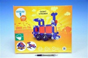 SEVA Stavebnice Seva 1 plast 222ks v krabici  34,5x29x4cm