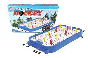 Teddies Hokej společenská hra plast/kov v krabici 54x38x7cm