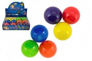 Teddies Míček skákací glitrový guma 7cm mix barev 1ks v sáčku 12 ks v boxu