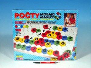 SEVA Mozaika Maxi/2 Počty 110ks v krabici 35x29x3,5cm