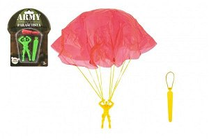Teddies Parašutista figurka s padákem létající 9cm 2 barvy na kartě