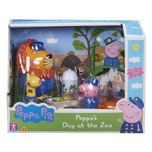 TM Toys Prasátko Peppa sada ZOO - 3 figurky a doplňky