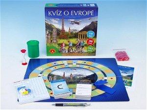 PEXI Kvíz o Evropě společenská hra v krabici 25x25x7cm