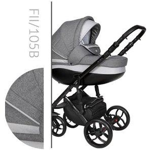 Kočárek Baby Merc Faster II Style 2019 trojkombinace černý rám s autosedačkou FII/105B