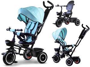 Dětská tříkolka Tiny Bike 3v1 světle modrá SP0650
