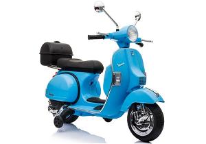 Dětská elektrická motorka Vespa modrá 3916